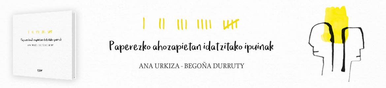 Paperezko  ahozapietan  idatzitako  ipuinak